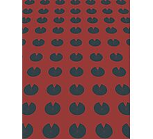 Pattern 004 Sacred Red Lotus Pad Design Photographic Print