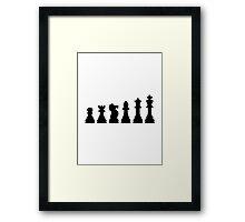 Evolution chess Framed Print