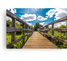 Bridge to the future Canvas Print