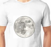 The Moon Is Gay Decal Unisex T-Shirt