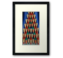 Colored Pencil Shapes Framed Print