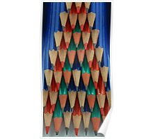 Colored Pencil Shapes Poster