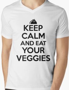 Keep calm and eat your veggies Mens V-Neck T-Shirt