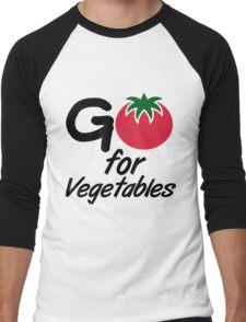 Go for Vegetables Men's Baseball ¾ T-Shirt