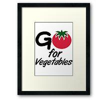 Go for Vegetables Framed Print