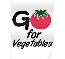 Go for Vegetables Poster