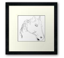 Copy/Horses head ornament -(050716)- Digital artwork: MS Paint Framed Print