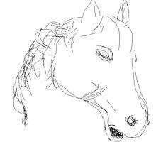 Copy/Horses head ornament -(050716)- Digital artwork: MS Paint Photographic Print