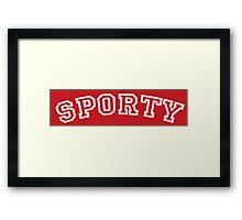Sporty Spice Framed Print