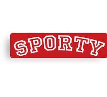 Sporty Spice Canvas Print