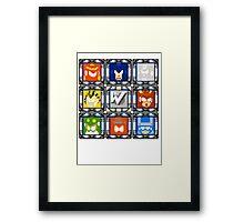 Megaman 4 Boss Select Framed Print