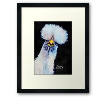 Fancy Chickens:  Who Got First Place?!  That Hussy! Framed Print