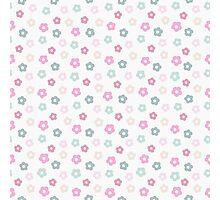 simple cute pastel floral pattern Photographic Print