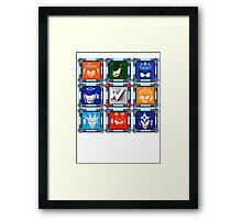 Megaman 3 Boss Select Framed Print