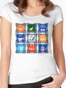 Megaman 3 Boss Select Women's Fitted Scoop T-Shirt