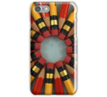 Red and Yellow Pencils iPhone Case/Skin