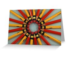 Red and Yellow Pencils Greeting Card