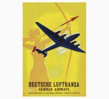 """""""DEUTSCHE LUFTHANSA"""" German Airway Advertising Print Kids Tee"""