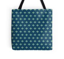 simple seamless knitting blue flower pattern Tote Bag