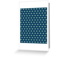 simple seamless knitting blue flower pattern Greeting Card