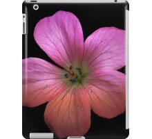 Single Pink flower in HDR iPad Case/Skin