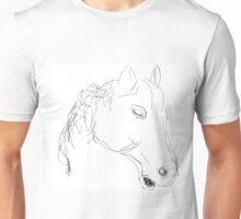 Copy/Horses head ornament -(050716)- Digital artwork: MS Paint Unisex T-Shirt