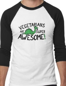 Vegetarians are super awesome! Men's Baseball ¾ T-Shirt