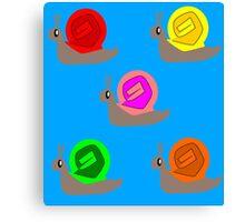 Snails Snails Snails Canvas Print