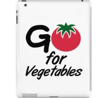 Go for Vegetables iPad Case/Skin