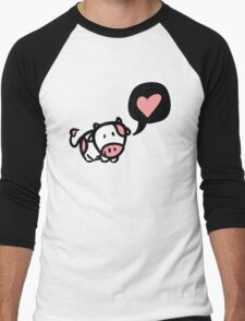 Cow in love Men's Baseball ¾ T-Shirt