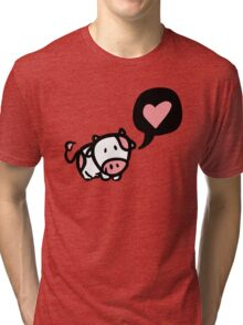 Cow in love Tri-blend T-Shirt