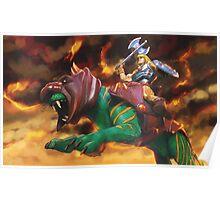 Battlecat and he-man Poster