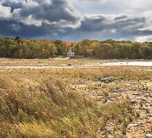 Storm clouds over the Old Mission Light by DArthurBrown