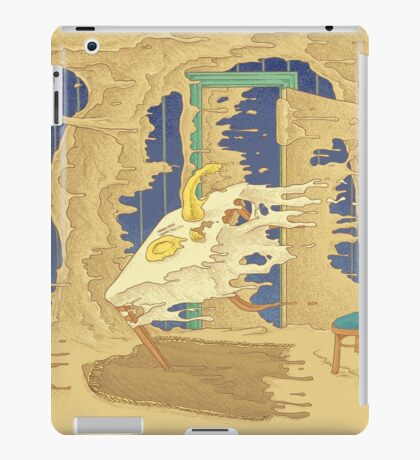 What if the world will flow to the right? iPad Case/Skin