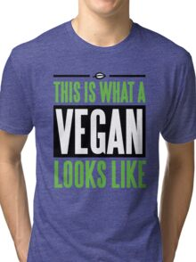 This is what a vegan looks like Tri-blend T-Shirt