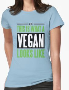 This is what a vegan looks like Womens Fitted T-Shirt