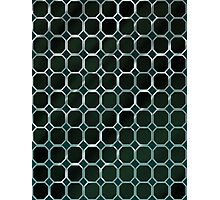 Pattern 007 Metal Honeycomb Green Octogon Photographic Print