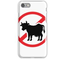 No cow - no meat iPhone Case/Skin