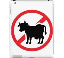 No cow - no meat iPad Case/Skin