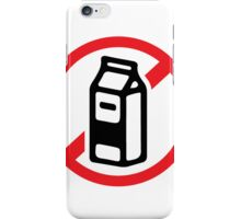 No milk - no dairy iPhone Case/Skin