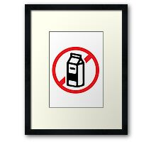 No milk - no dairy Framed Print