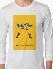 Wolverine Flat Design Long Sleeve T-Shirt