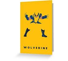 Wolverine Flat Design Greeting Card