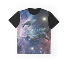 Sea lions in space Graphic T-Shirt