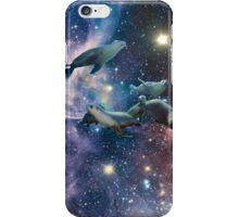 Sea lions in space iPhone Case/Skin