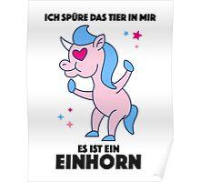 Einhorn Tier Poster