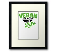 This is what a vegan looks like Framed Print