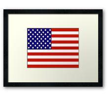 Red,White and Blue USA Flag Framed Print