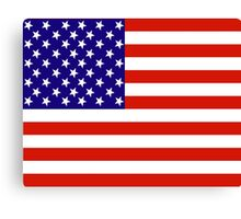 Red,White and Blue USA Flag Canvas Print