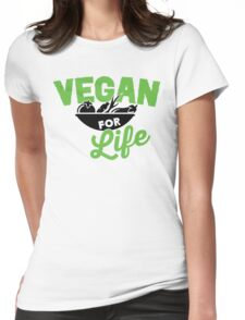 Vegan for life Womens Fitted T-Shirt